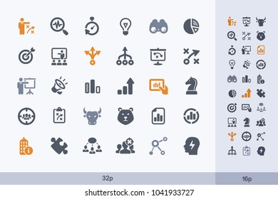 Marketing Strategy - Carbon Icons. A set of professional, pixel-aligned icons.