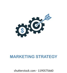 Marketing Strategy icon in two colors. Creative style design from online marketing collection. UX and UI. Pixel perfect marketing strategy icon. For web design, apps, software, printing usage.