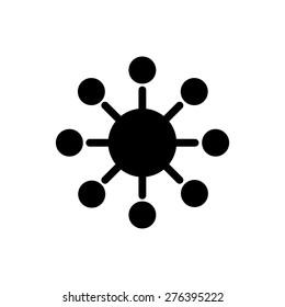 Marketing viral symbol icon vector illustration eps10 on white background