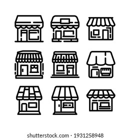 marketplace icon or logo isolated sign symbol vector illustration - Collection of high quality black style vector icons