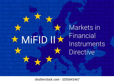 Markets in Financial Instruments Directive - MiFID II. vector illustration
