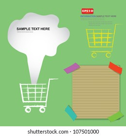 Marketting and blank paper,Vector