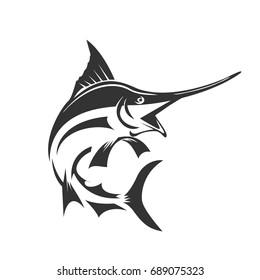 marlin fish jump