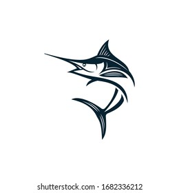 Marlin fish logo design. Awesome marlin fish logo. marlin fish logotype.