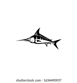 marlin fish silhouette. vector illustration of marlin fish