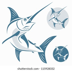 Marlin fish - vector illustration