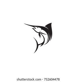 marlin fish vector logo template