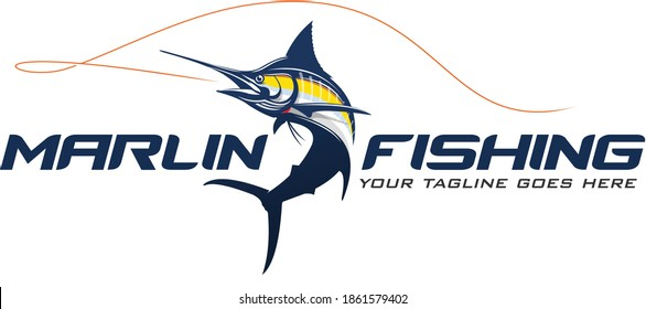 Marlin Fishing Logo Template, Great to use as your marlin fishing Activity.