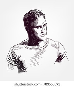 marlon brando vector sketch illustration