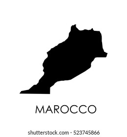 Marocco map in white background