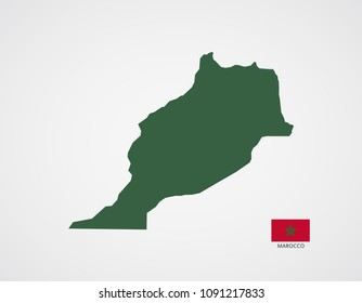 marocco national map vector illustration