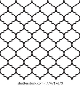Marocco vector pattern Hamptons style.