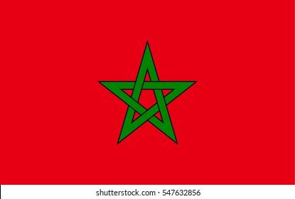 Marokko Flag Vector