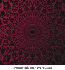 maroon and black mandala background