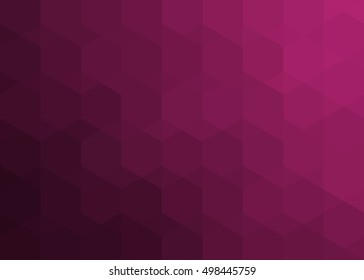 maroon pattern of hexagons and triangles with shadow and reflex / maroon pattern of hexagons and triangles