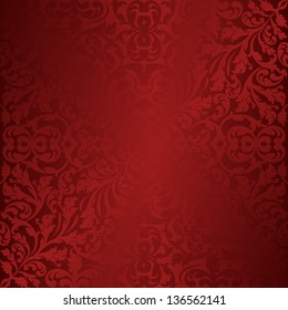 maroon and red background with ornaments