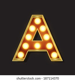 Marquee Light Letter - Vector - A