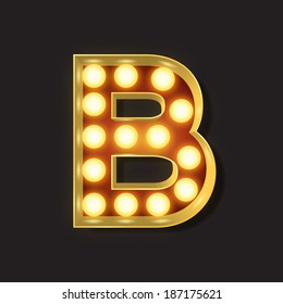 Marquee Light Letter - Vector - B