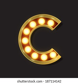 Marquee Light Letter - Vector - C