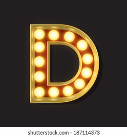 Marquee Light Letter - Vector - D