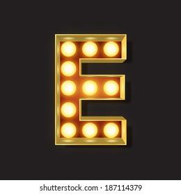 Marquee Light Letter - Vector - E