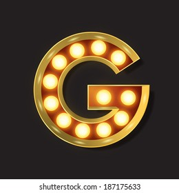 Marquee Light Letter - Vector - G