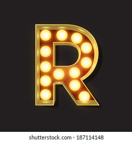 Marquee Light Letter - Vector - R