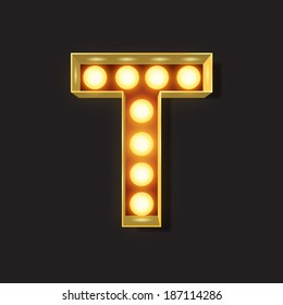 Marquee Light Letter - Vector - T