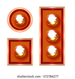 Marquee lights vector illustration