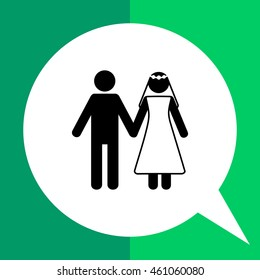 Marriage Concept Icon with Man and Woman