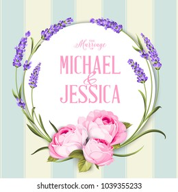 Marriage invitation card with custom sign.