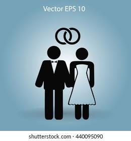 Marriage vector icon