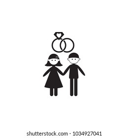 married couple icon. Illustration of family values icon. Premium quality graphic design. Signs and symbols icon for websites, web design, mobile app on white background