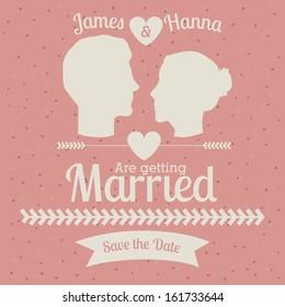 married design over pink  background vector illustration