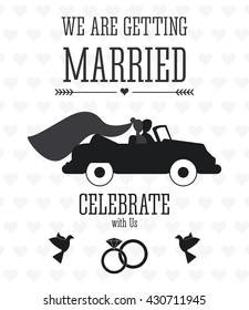 Married design. Wedding icon. Flat illustration