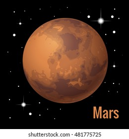 """Mars is the fourth planet from the Sun and the second-smallest planet in the Solar System. Named after the Roman god of war, it is often referred to as the """"Red Planet"""""""