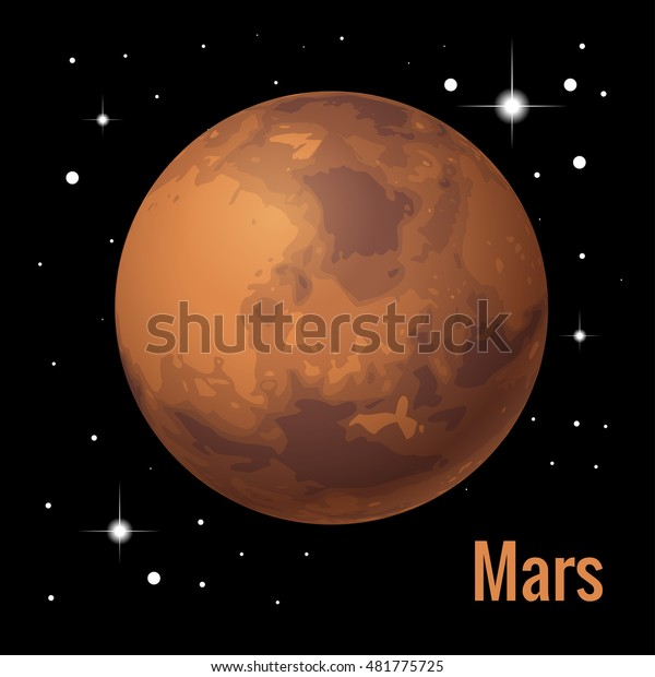 Mars Is The Fourth Planet From The Sun Editorial Stock