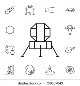 mars station icon. Set of space icons. Signs, outline symbols collection, simple thin line icons for websites, web design, mobile app, info graphics on white background