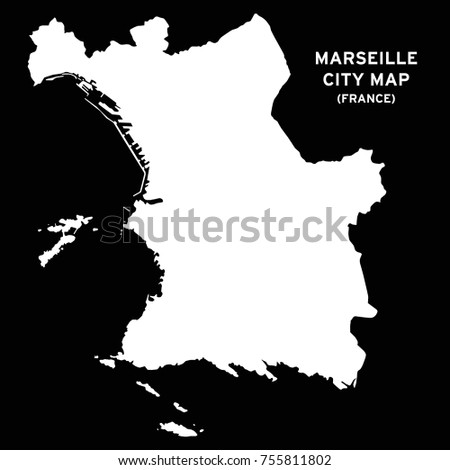 Marseille Map Of France.Marseille France City Map Vector Stock Vector Royalty Free