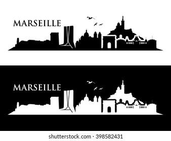Marseille skyline - vector illustration