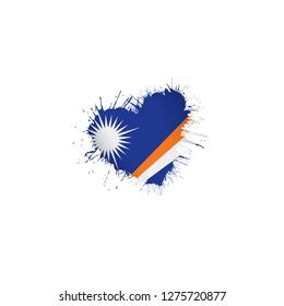 Marshall Islands flag, vector illustration on a white background