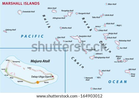 Marshall Islands Map Stock Vector (Royalty Free) 164903012 ...