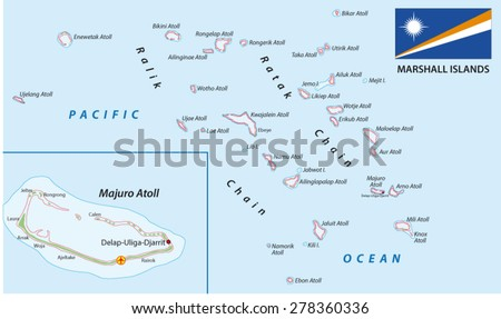 Marshall Islands Map Flag Stock Vector (Royalty Free) 278360336 ...