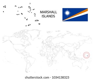 Marshall Islands Map Images, Stock Photos & Vectors   Shutterstock