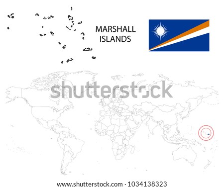 Marshall Islands Map On World Map Stock Vector (Royalty Free ...