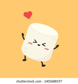 marshmallow cartoon. marshmallow character design.