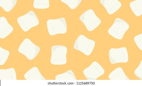 Marshmallow cartoon pattern. free space for text. wallpaper. background.