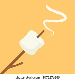 Marshmallow cartoon vector. free space for text. wallpaper. background.