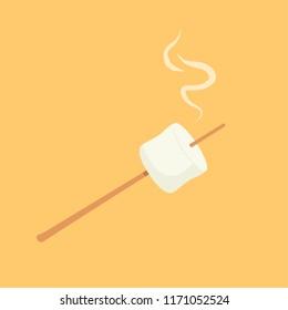 marshmallow cartoon vector. symbol. logo.