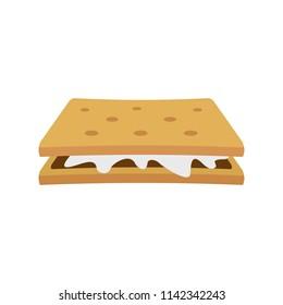Marshmallow cracker icon. Flat illustration of marshmallow cracker vector icon for web isolated on white